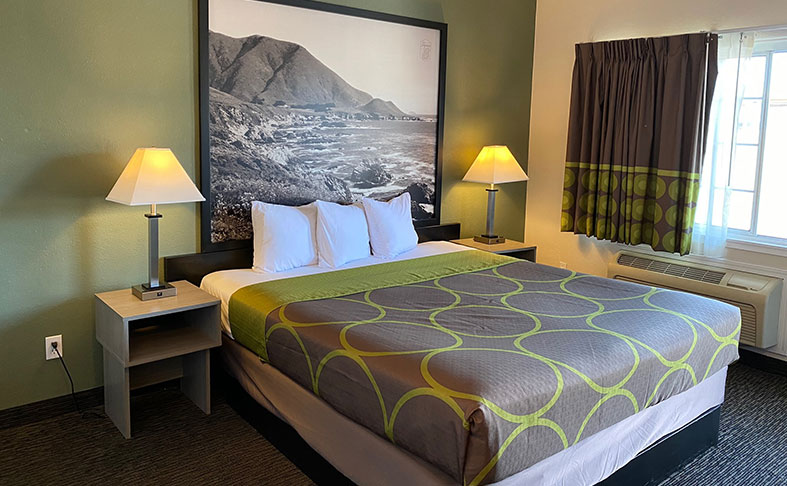 One King Bed at Monterey, California Hotel
